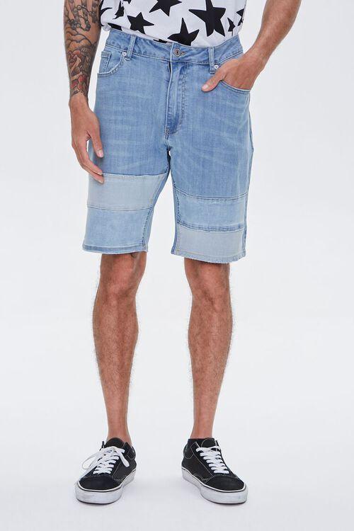 Paneled Denim Shorts, image 2