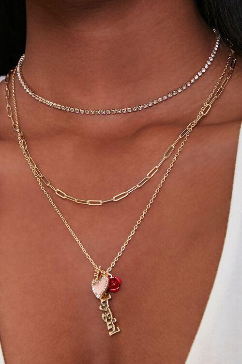 GOLD Babygirl Charm Necklace Set, image 1