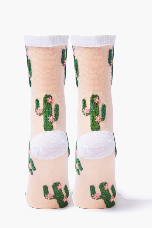 Sheer Mesh Cacti Socks, image 2