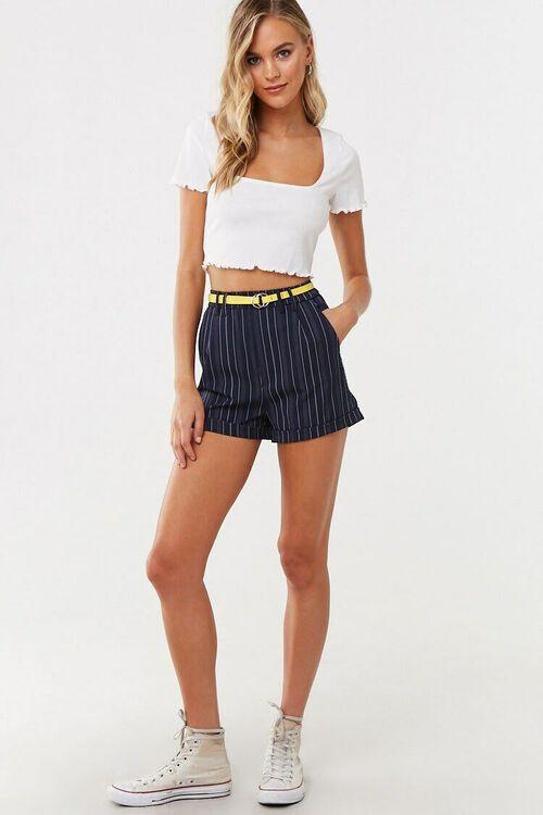 Striped Print Shorts, image 5