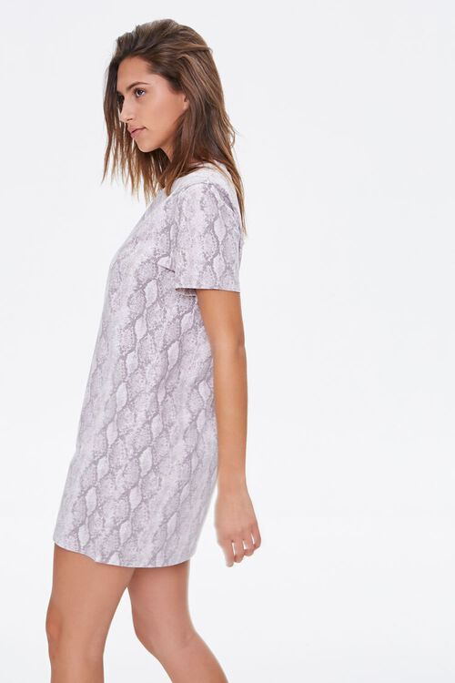 Snake Print T-Shirt Dress, image 2