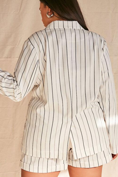 Plus Size Pinstriped Blazer, image 3