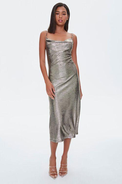 Metallic Cami Midi Dress, image 4