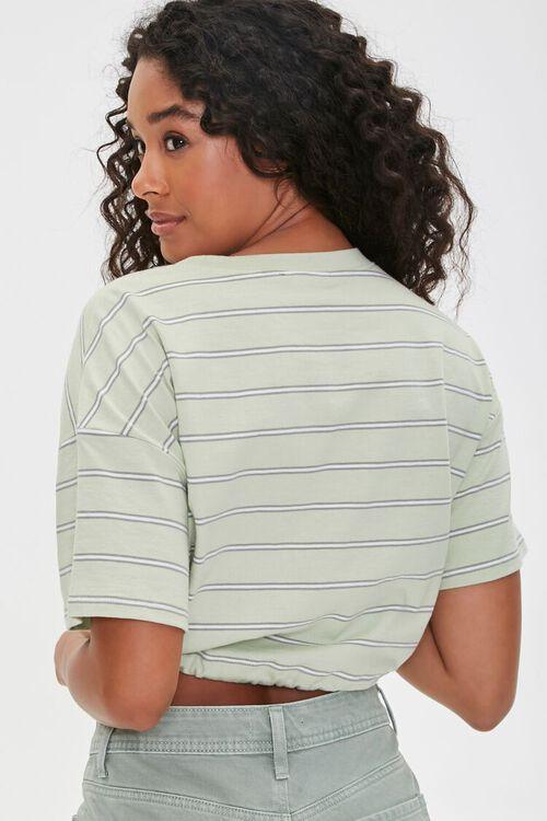Striped Drawstring Crop Top, image 3