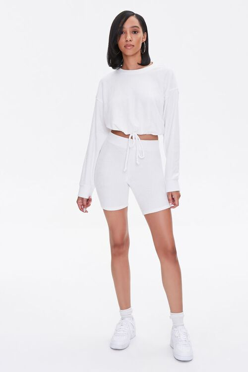French Terry Drop-Sleeve Top, image 4