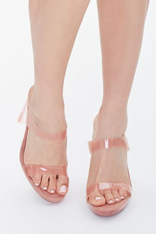 Semi-Translucent Lucite Block Heels, image 4