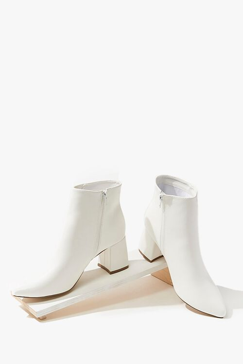 Faux Leather Booties, image 3