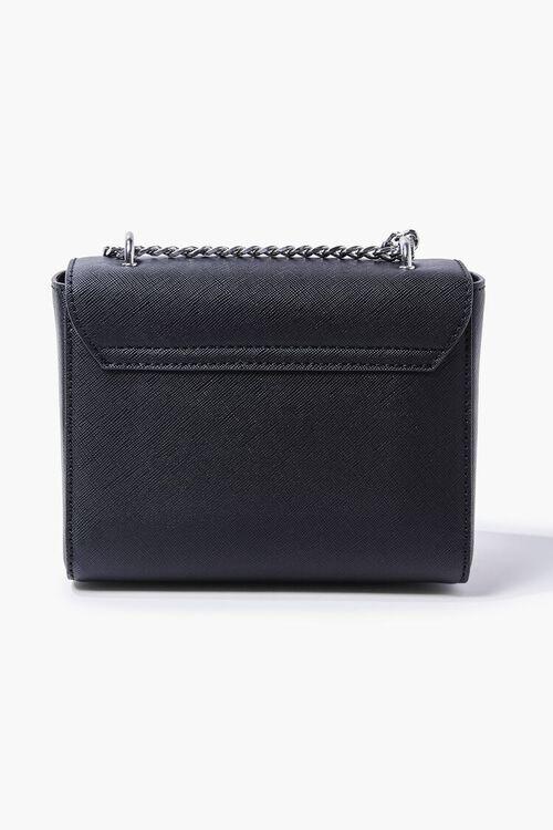 BLACK Faux Leather Crossbody Bag, image 3