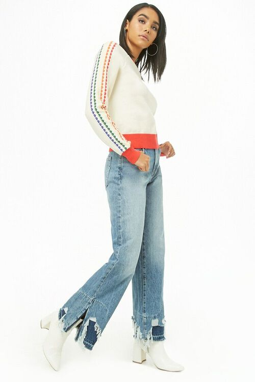Distressed Wide-Leg Jeans, image 4