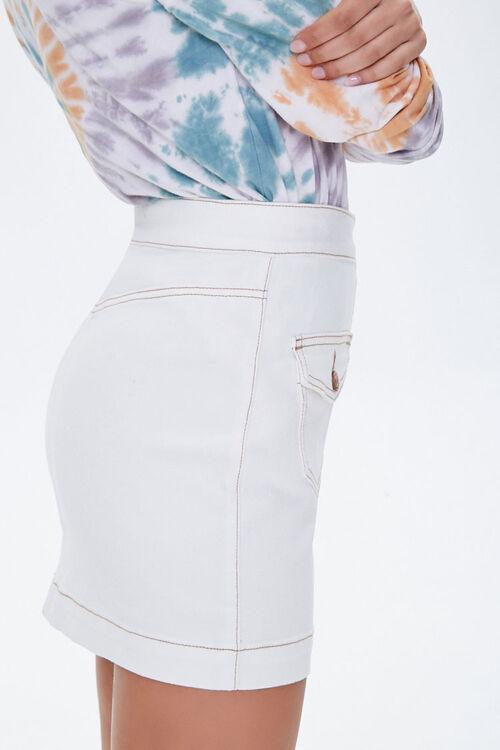 Button-Down Denim Mini Skirt, image 2