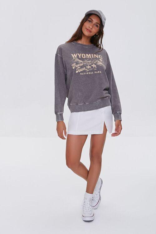 CHARCOAL/WHITE Grand Teton Graphic Pullover, image 4