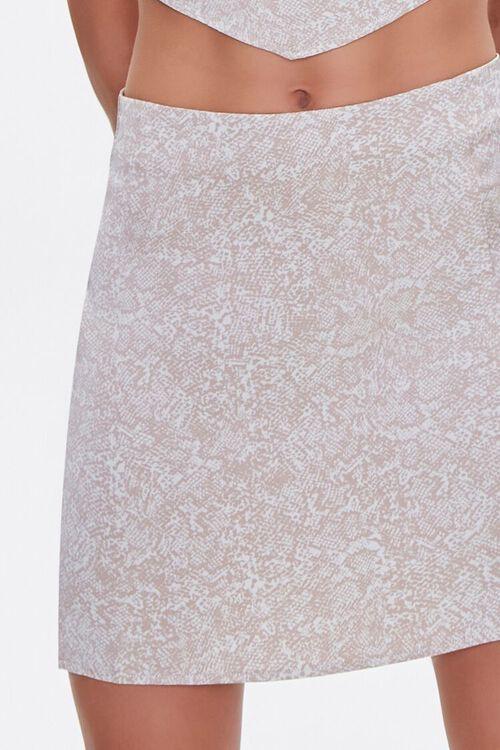 Snakeskin Print Mini Skirt, image 5