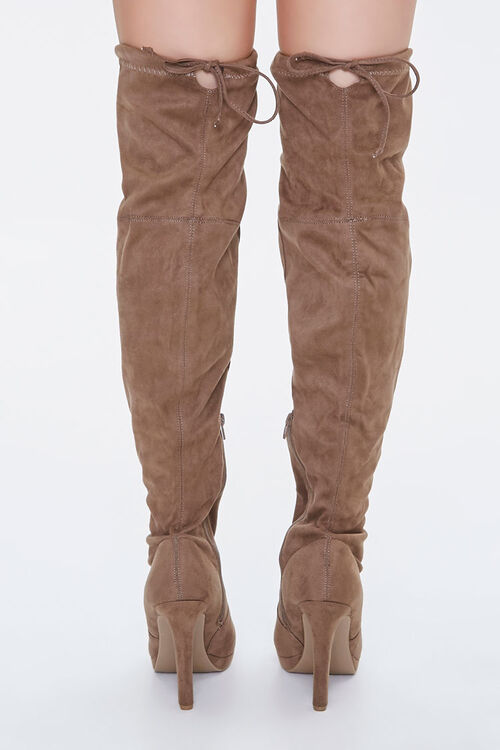 Lace-Up Knee-High Stiletto Boots, image 3