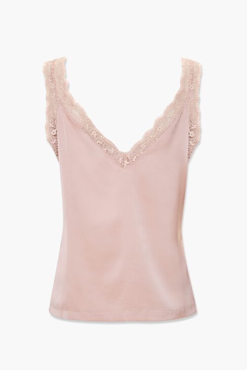 Lace-Trim Ruched Cami, image 2