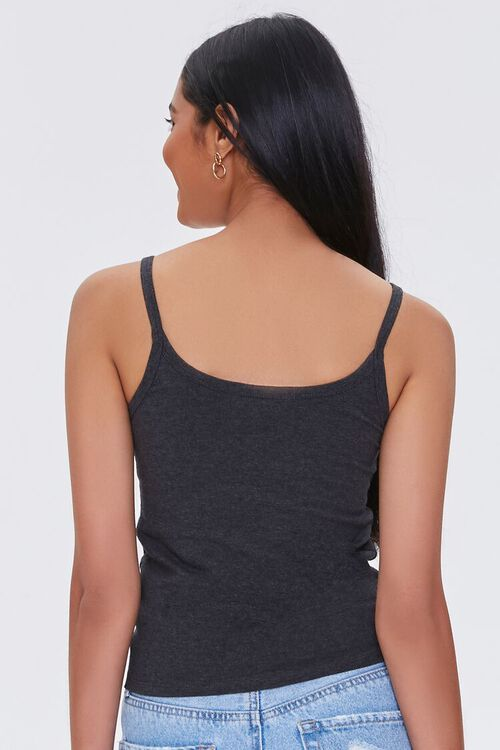 CHARCOAL HEATHER Organically Grown Cotton Scoop Neck Cami, image 3