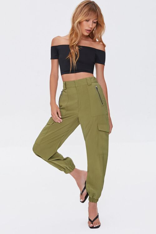 Cargo High-Rise Joggers, image 1