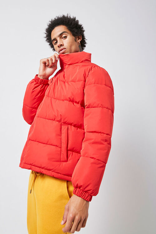Zip-Up Puffer Jacket, image 1
