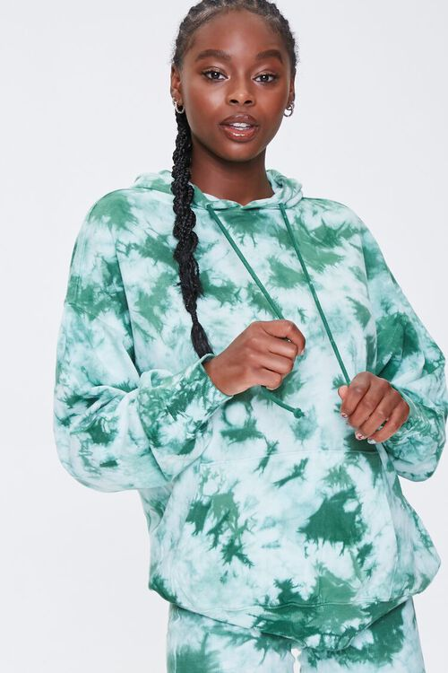 Tie-Dye French Terry Hoodie, image 1