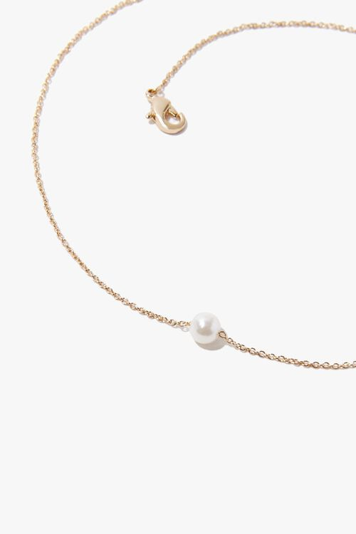 Faux Pearl Charm Necklace, image 2