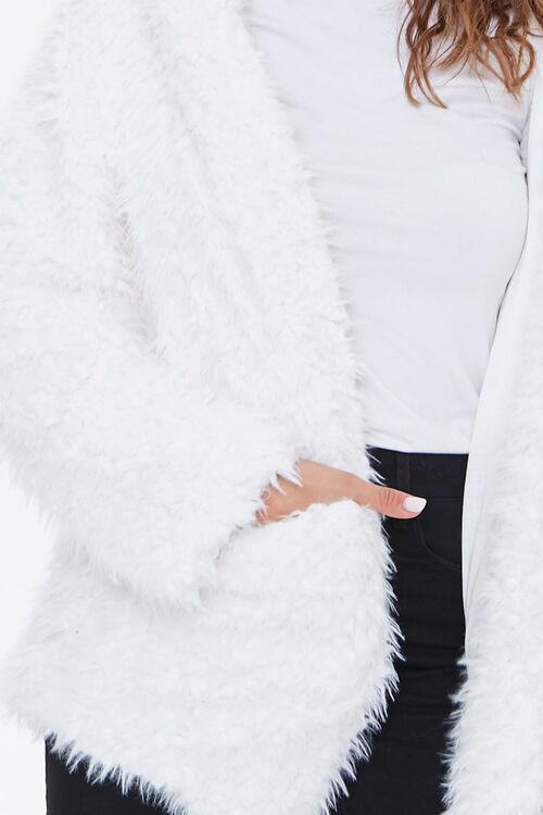 Hooded Fuzzy Knit Jacket, image 5