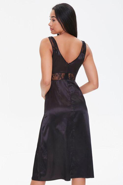 Satin Lace-Trim Dress, image 3