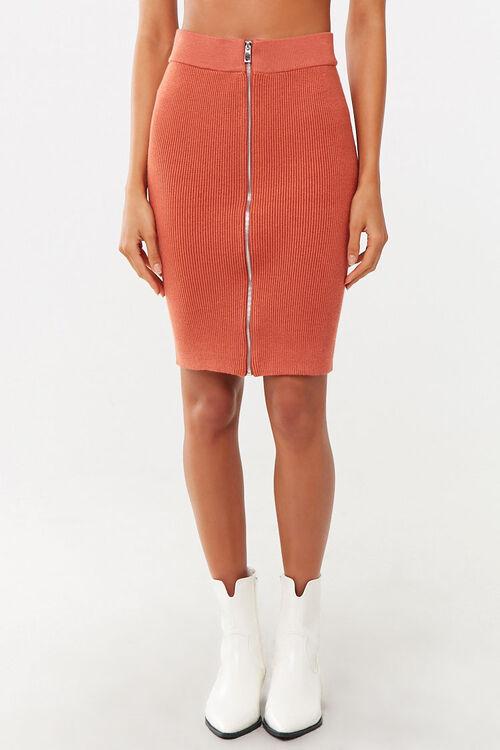 Zip-Front Mini Skirt, image 2
