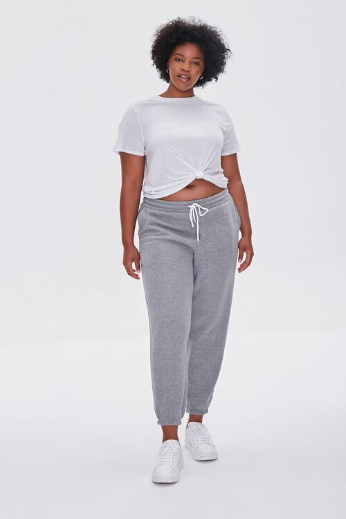 Plus Size French Terry Joggers, image 1