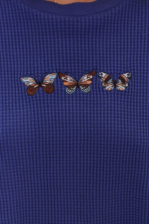 BLUE/MULTI Butterfly Graphic Cropped Tee, image 5