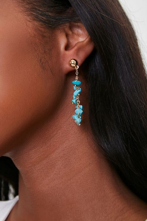 Drop-Chain Turquoise Earrings, image 1