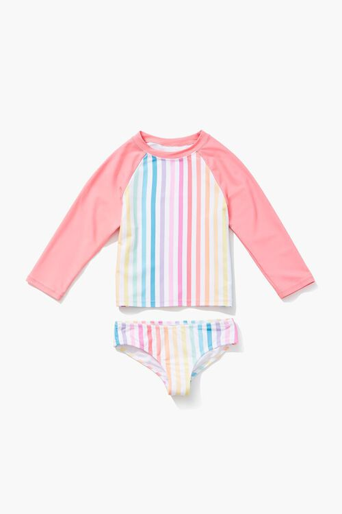 Girls Rainbow Two-Piece Swimsuit (Kids), image 3