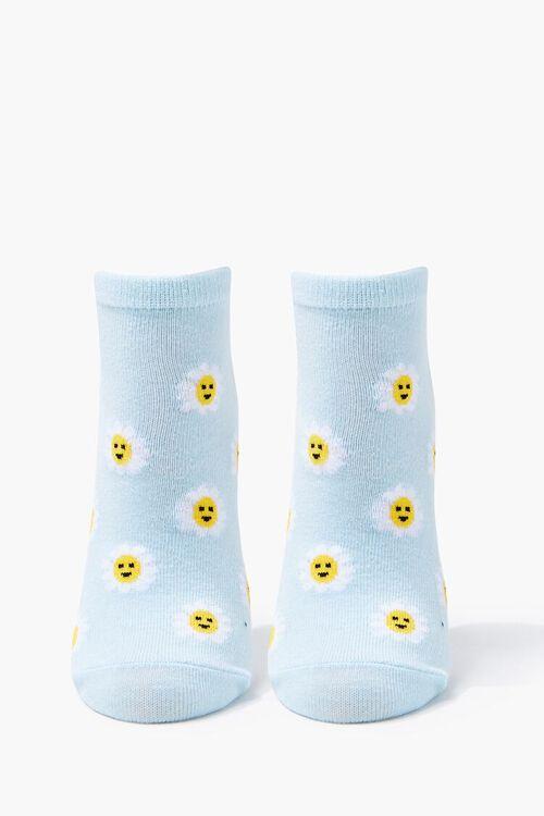 BLUE/MULTI Daisy Print Ankle Socks, image 2