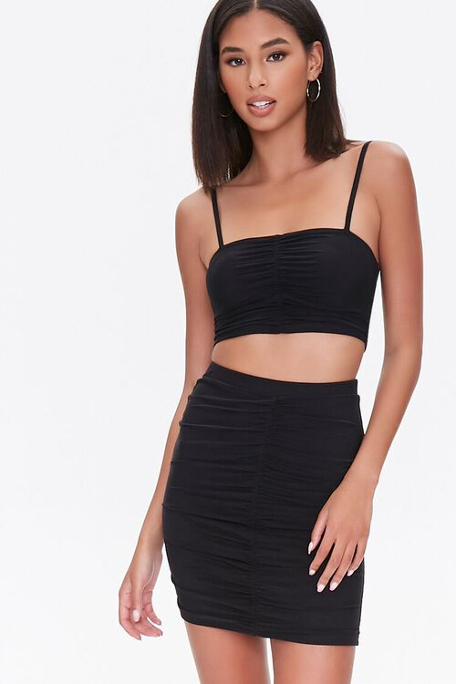 Ruched Mini Skirt, image 1