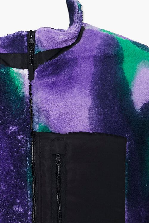 Watercolor Fleece Zip-Up Jacket, image 4