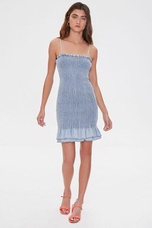 Smocked Bodycon Mini Dress, image 4