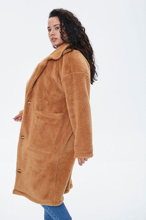 Plus Size Faux Fur Teddy Coat, image 2