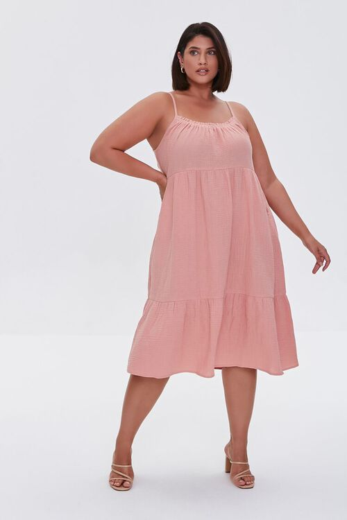 Plus Size Tiered Cami Dress, image 4