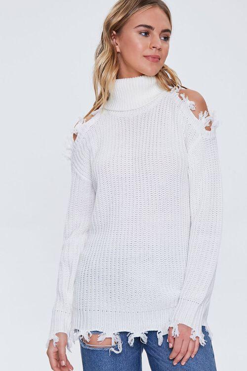 Open-Shoulder Turtleneck Sweater, image 1
