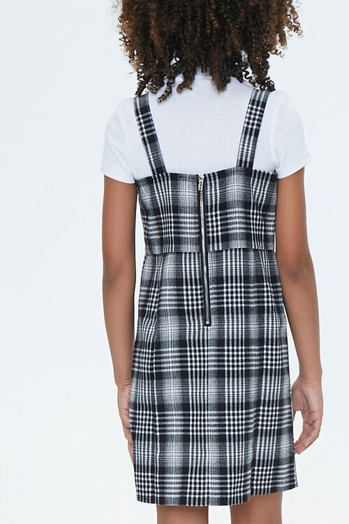 Girls Plaid Pinafore Dress (Kids), image 2