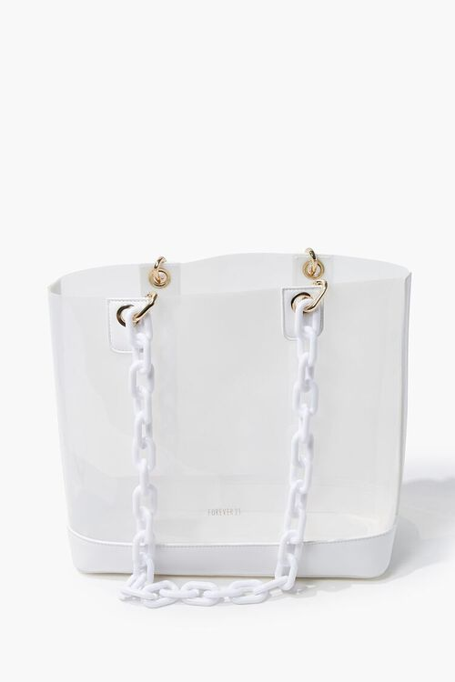 Transparent Chain-Strap Tote Bag, image 1