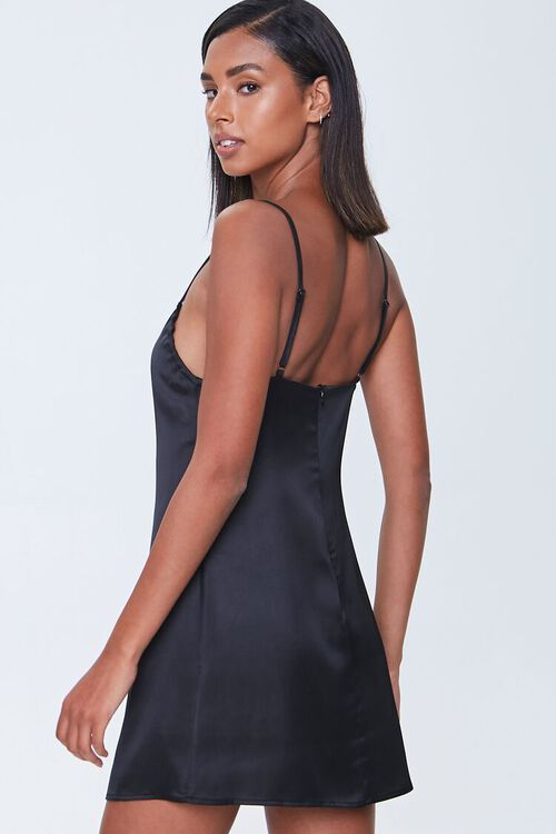 Satin Mini Cami Dress, image 3