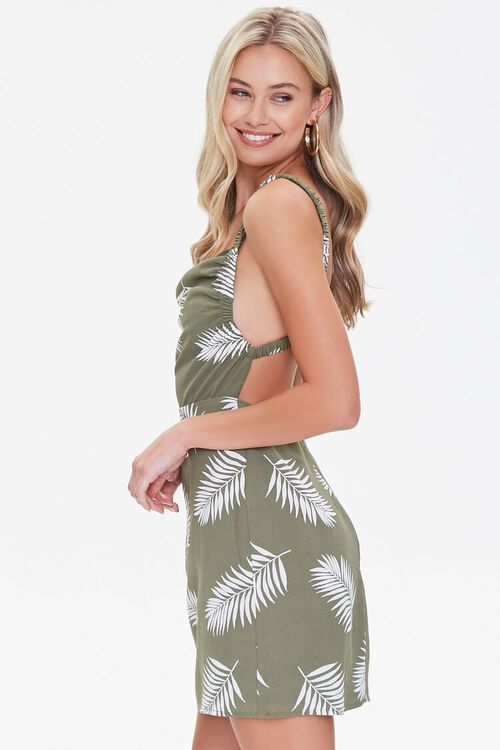 Leaf Print Mini Dress, image 2