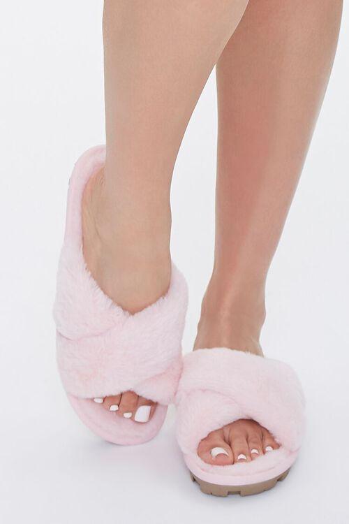 Plush Crisscross Slippers, image 4
