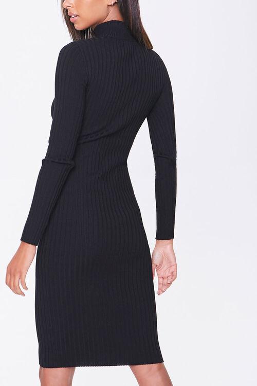 Ribbed Mock Neck Sweater Dress, image 3