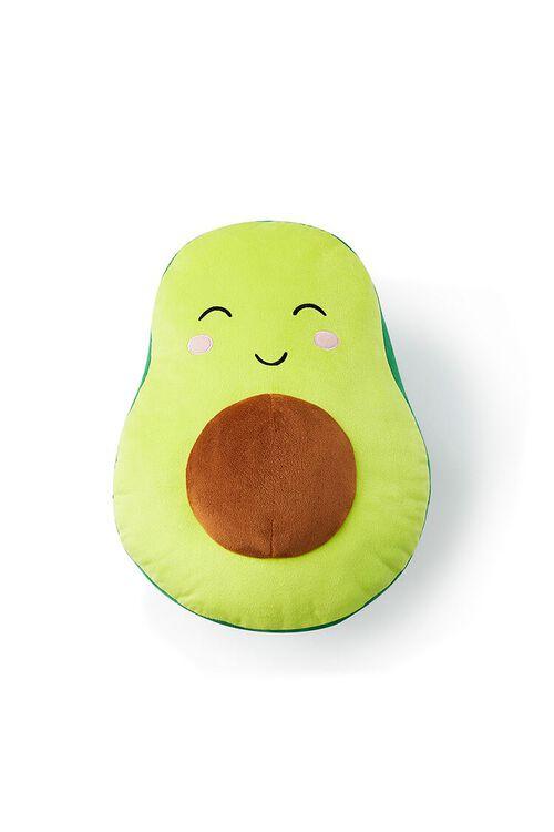 GREEN/MULTI Plush Avocado Throw Pillow, image 2