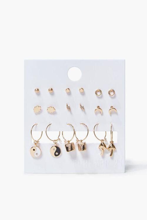 GOLD Variety Stud Earring Set, image 1