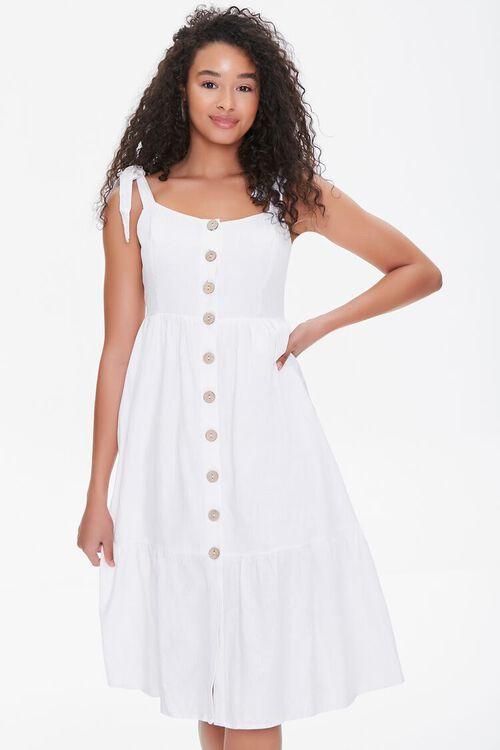 Buttoned Self-Tie Midi Dress, image 1