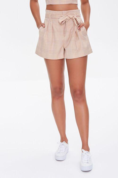 Plaid Paperbag Shorts, image 2