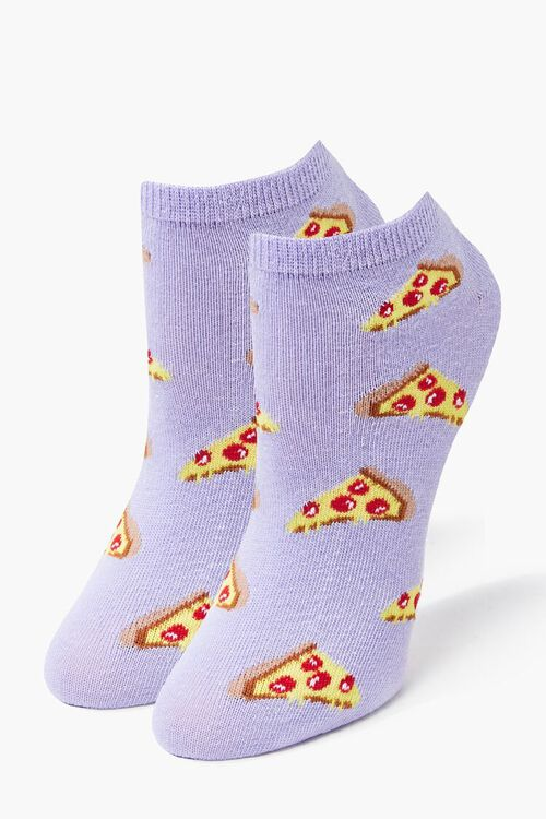 Pizza Graphic Ankle Socks, image 1