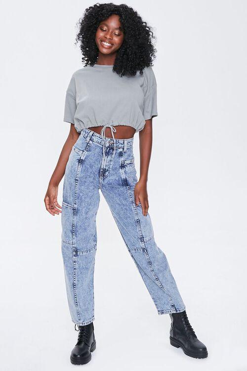 ACID DENIM Relaxed Acid Wash Jeans, image 5