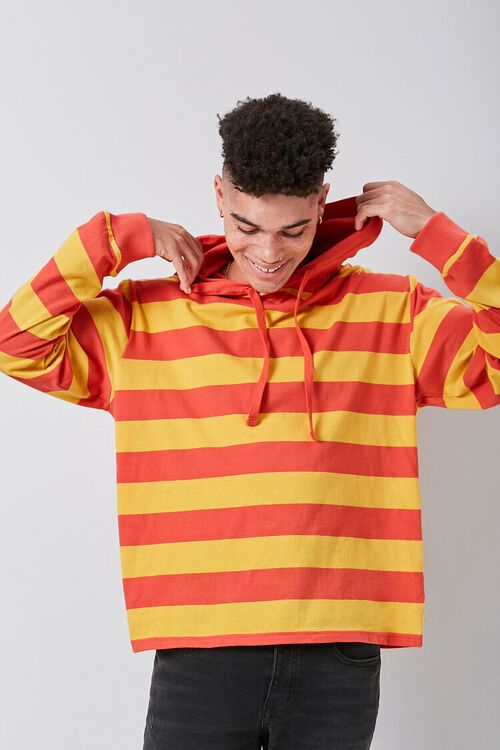 Bold Striped Hooded Pullover, image 1